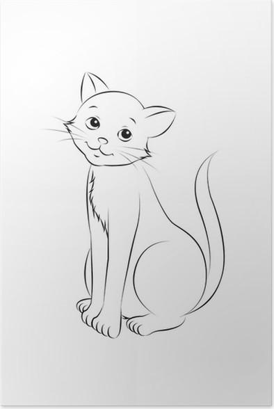 Póster 12 sesión del gato para colorear contornos Mundo • Pixers ...