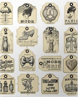 Poster 16 pommes Retro etiketter