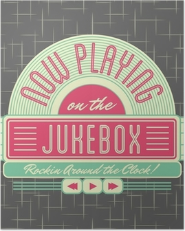 Poster 1950 Jukebox Style Logo Design