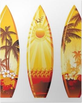 Poster 3 surfplanken