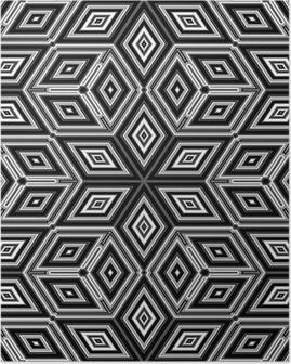 Poster 3d abstracte kubussen die lijkt op een Escher illustratie