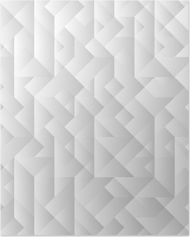 3d grey geometric background Poster