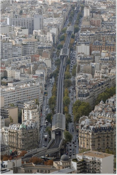 a metro line in paris, france Poster • Pixers® • We live to change