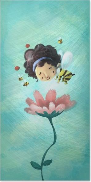 Poster Abeille fille - Célébrations