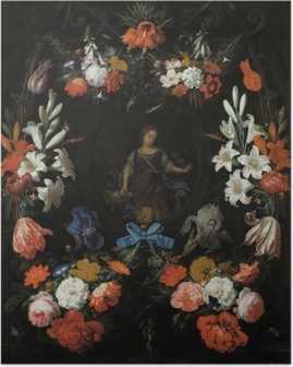Abraham Mignon - Garland of Flowers Poster