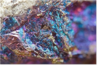 Abstract background from a metal mineral. Poster