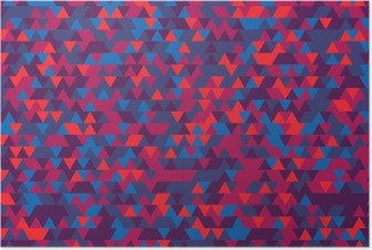 Abstract background of the triangles. The gradation of Violet. Violet hues. Poster
