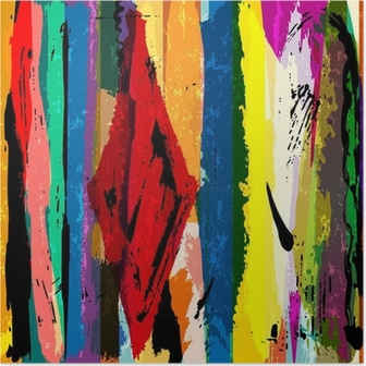 abstract background, with stripes, paint strokes and splashes, a Poster