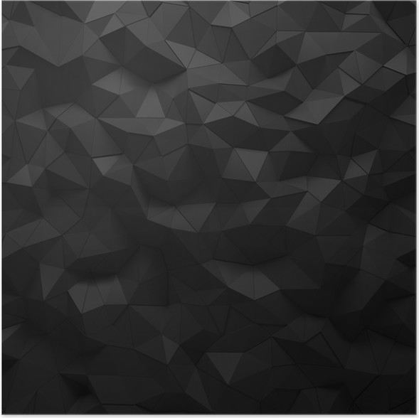 abstract black 3d geometric polygon facet background mosaic made by