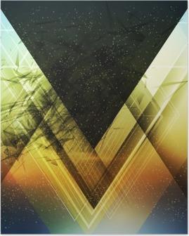 Poster Abstract driehoek toekomst vector achtergrond