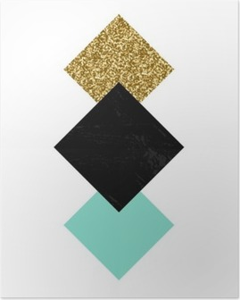 Abstract Geometric Composition Poster