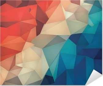 Abstract geometric low poly background. Poster