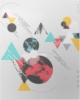 Abstract modern geometric background Poster