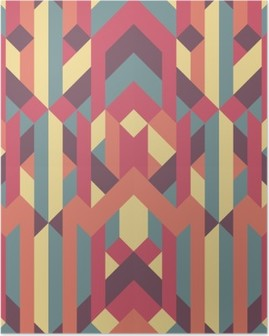 Poster Abstract retro geometric pattern