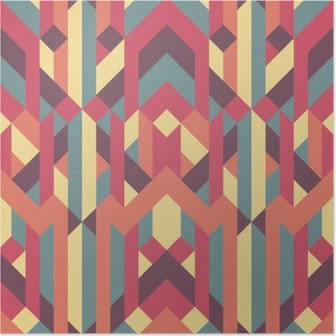 Poster Abstract retro geometrisch patroon