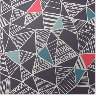 Abstract seamless doodle pattern Poster