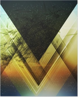 Abstract triangle future vector background Poster