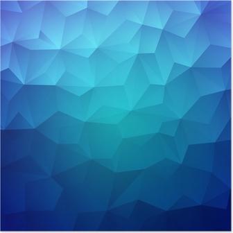 Poster Abstracte Driehoek Geometrische Kleurrijke Achtergrond