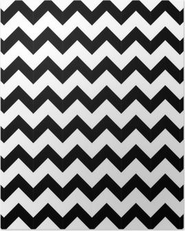 Poster Abstracte geometrische zigzag naadloos patroon. vector