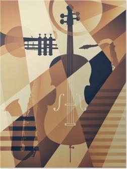Poster Abstracte jazzaffiche, muziekachtergrond