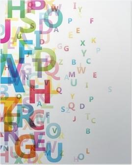 Poster Abstracte Kleur alfabet op een witte achtergrond # Vector