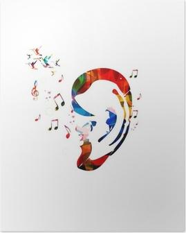Poster Abstracte kleurrijke oor vector