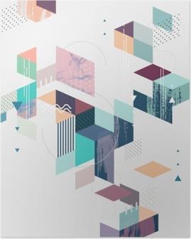 Poster Abstracte moderne geometrische achtergrond