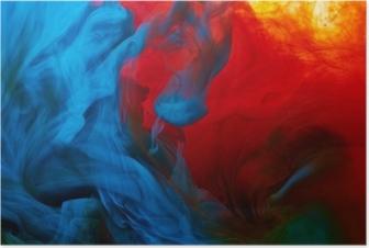 Poster Abstracte verf splash