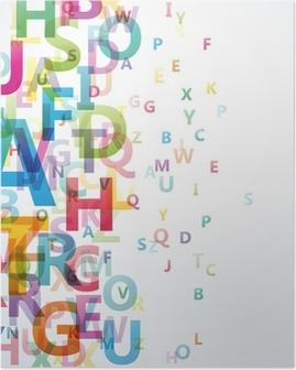 Poster Abstrakt Färg alfabetet på vit bakgrund # Vector