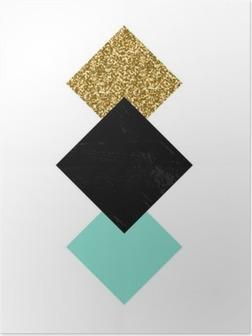 Poster Abstrakt geometriskt komposition