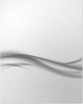 Poster Abstrakt grå vågig bakgrund