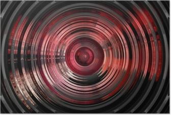Poster Abstrakt hypnotiskt 3d bakgrund