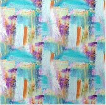 Poster Abstrakt konst bakgrund. handmålade bakgrund. akrylbild. sömlöst mönster.