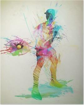 Poster Abstrakt tennisspelare