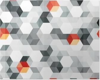 Poster Abstrakta kuber sömlösa mönster med grunge effekt