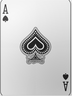 Ace of spade playing card Poster