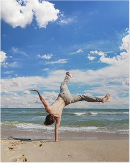 acrobatic boy Poster