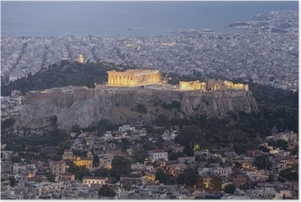 Acropolis and Parthenon,Athens,Greece Poster