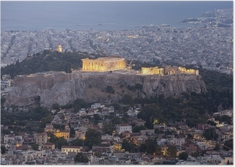 Acropolis and Parthenon,Athens,Greece Poster