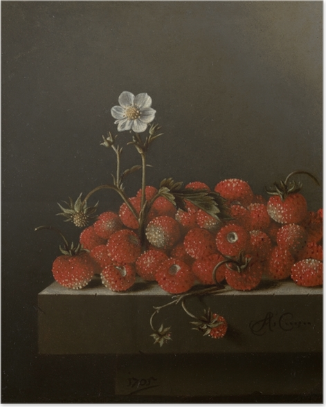 Poster Adriaen Coorte - Still Life with Wild Strawberries - Reproductions