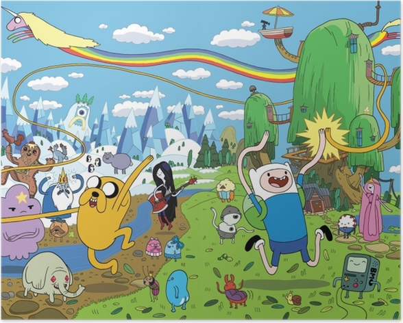 Adventure Time Finn Jake Poster Pixers We Live To Change