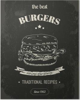 Poster Affiche de Hamburger