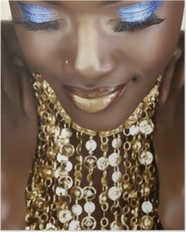 Poster Afrikansk kvinna med guld