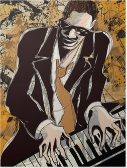 afro american jazz pianist Poster