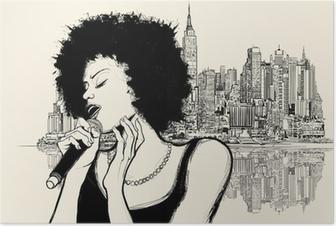 afro american jazz singer Poster