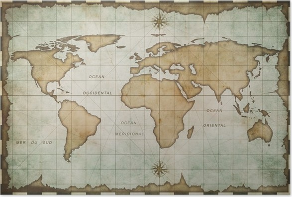 Aged old world map poster pixers we live to change aged old world map poster gumiabroncs Images