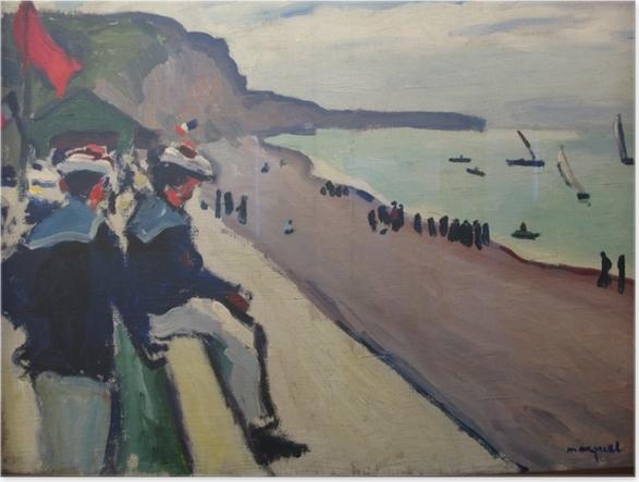Poster Albert Marquet - La plage de Fécamp - Reproductions
