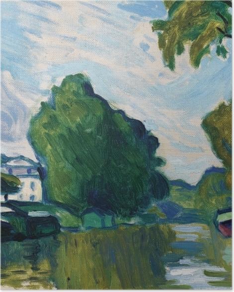 Poster Albert Marquet - Poissy, Bords de Seine - Reproductions