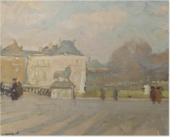 Póster Albert Marquet - Vista al palacio de Luxemburgo - Reproductions