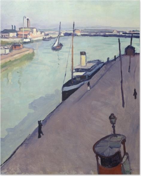 Poster Albert Marquet - Vue du port du Havre (Le Quai de Notre Dame) - Reproductions